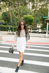 dress,sunglasses,tumblr,mini dress,boots,ankle boots,bag,black bag,shoes