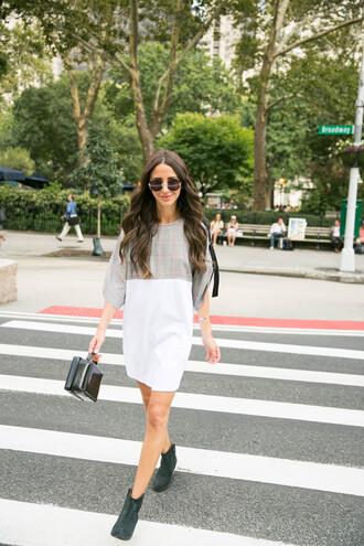 dress sunglasses tumblr mini dress boots ankle boots bag black bag shoes
