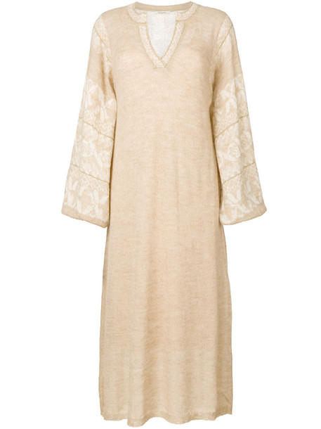 MES DEMOISELLES dress maxi dress maxi women nude cotton