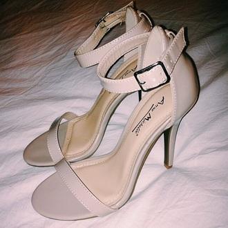 nude sandal heels shoes mid heel sandals