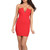 Criss Cross Red Deep V Bustier Dress | Emprada