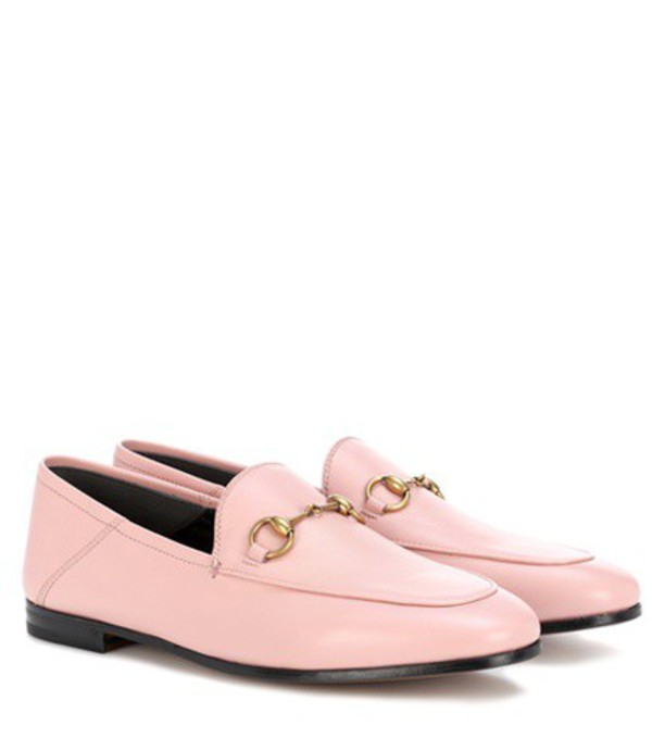 Gucci Horsebit leather loafers in pink