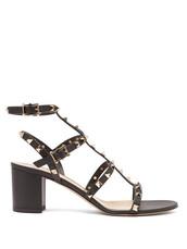 heel,sandals,leather sandals,leather,black,shoes