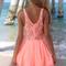 Sabo skirt  pixie playsuit - neon - peach - 58.0000