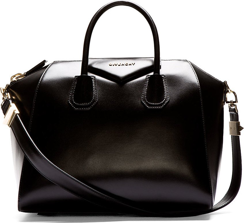 Givenchy - Black Leather Medium Antigona Duffle Bag