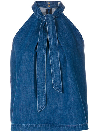 top denim top denim women cotton blue