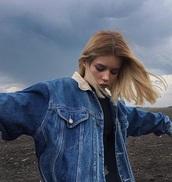 jacket,denim jacket,oversized,dark blue