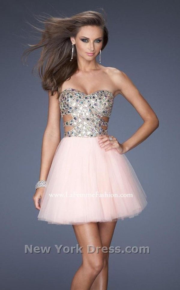 dress short prom dress nude