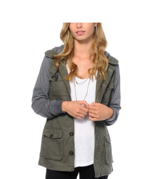 coat green cargo jacket