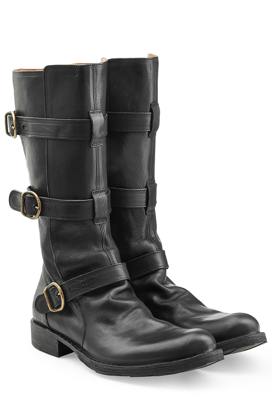 fiorentini baker eternity 7040 buckled leather boots. Black Bedroom Furniture Sets. Home Design Ideas