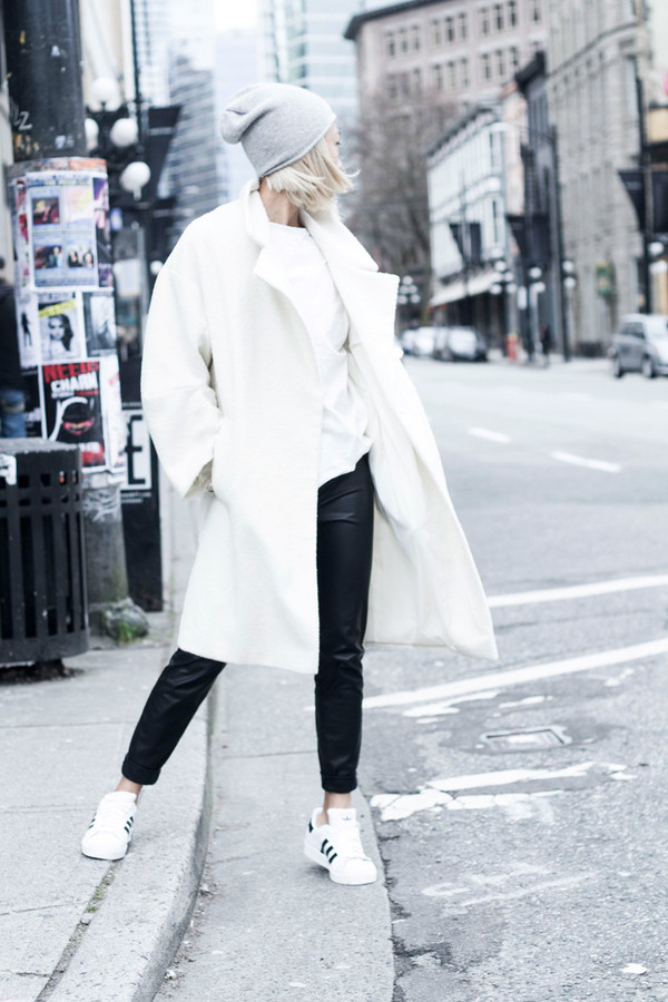 the haute pursuit jewels coat hat pants shoes oversized white coat white white coat