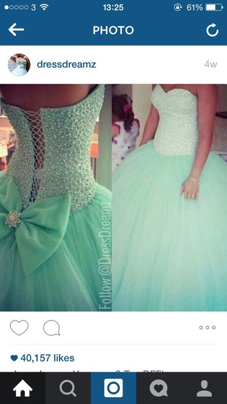 dress mint colour prom dress