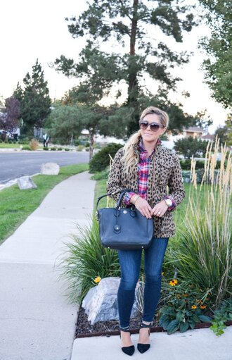 all dolled up blogger coat shirt jewels sunglasses bag shoes jeans