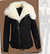 fashion,fur,coat,jacket,black,winter sweater,fall outfits,girly,cute,zip,style