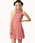 Pleated Floral Print Dress   FOREVER21 - 2046139575