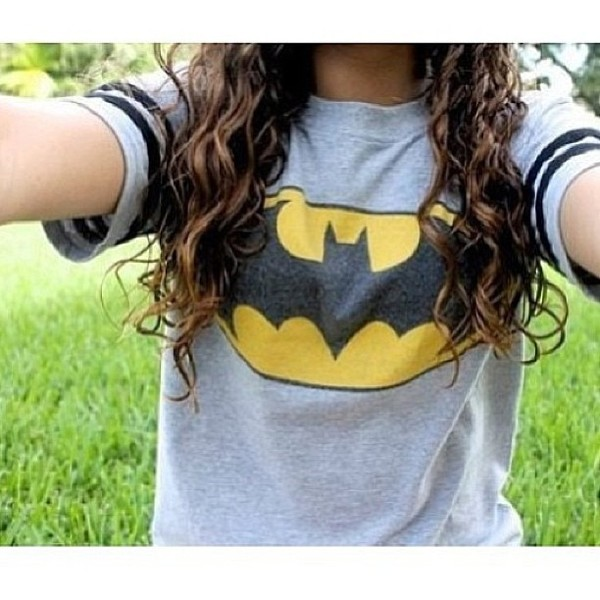 shirt grey batman t-shirt t-shirt