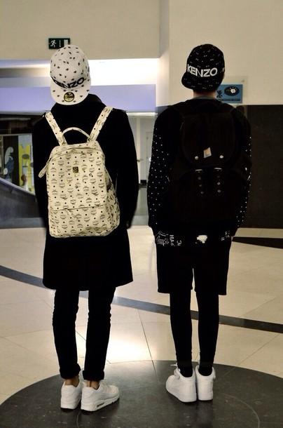 Bag Black White Sweet Evil Regal Grunge Soft Ghetto Backpack Bookbag Snapback Japanese Asian