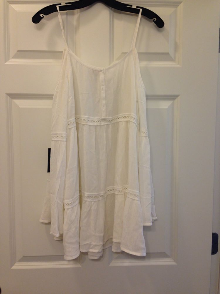 Kendall and Kylie Pacsun White Cold Shoulder Tunic Sold Out Festival Dress | eBay