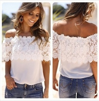 top summer top casual t-shirts floral halter top lace blouses lace up lace top t-shirt