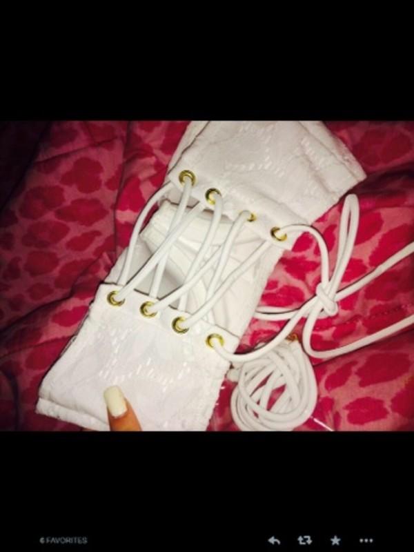 swimwear white lace white lace bikini bikini top lace bikini top