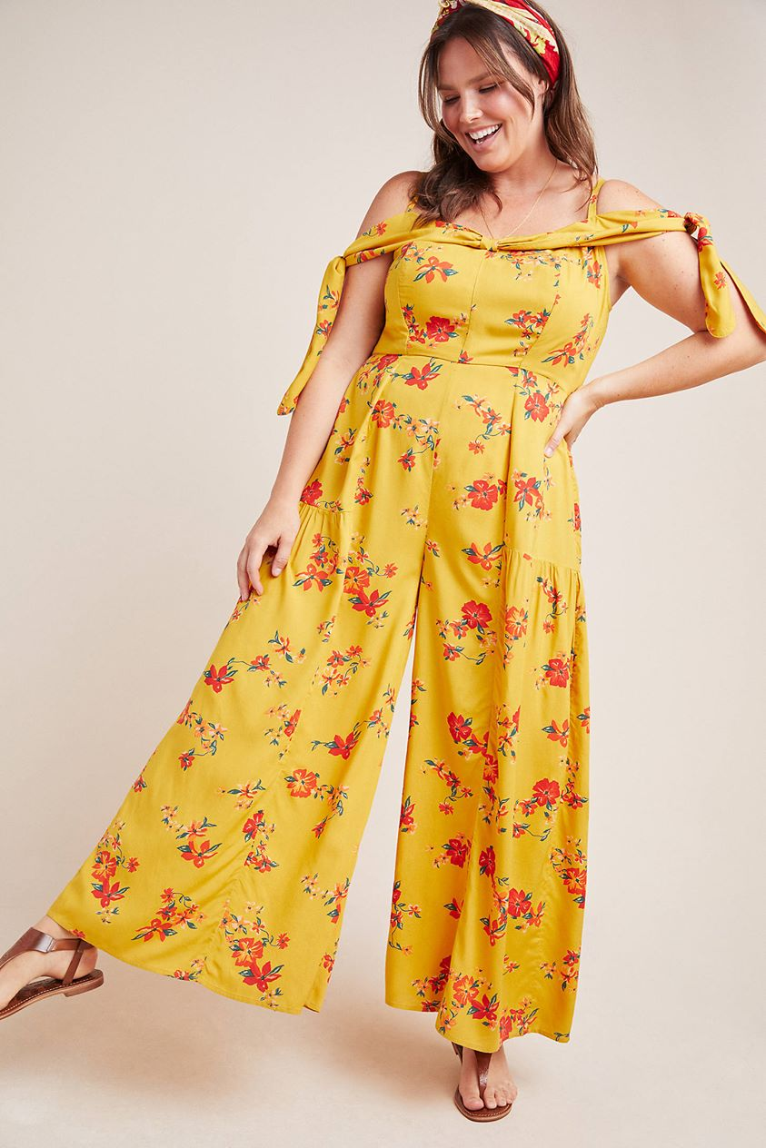 Londonderry Jumpsuit by Anthropologie in Gold