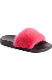 shoes,fluffy,slide shoes,givenchy,fluffy slides