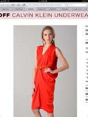 dress,orange,asymmetric tulip