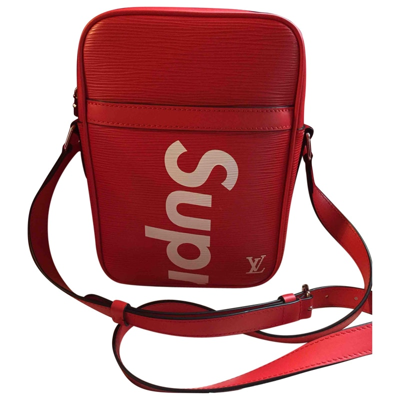 164adf587ee4 Leather bag LOUIS VUITTON X SUPREME Red