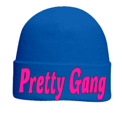 PRETTY GANG - Otto Beanie 82-480 - 82-4802033 - Custom Heat Pressed - CustomPlanet.com