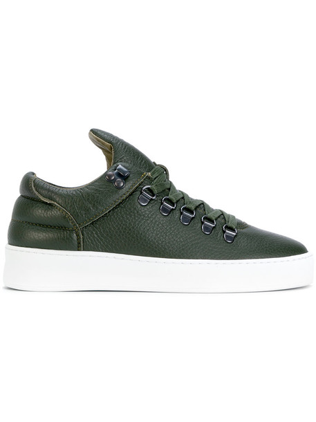 Filling Pieces women sneakers lace leather green shoes