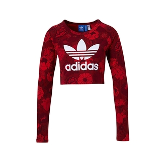 top adidas cropped crop crop tops red flowers floral shirt suit xs xxs skinny letters logo sexy cute lovely