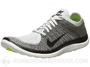 Nike free 4.0 flyknit men's shoes plat/fog/chr/blk