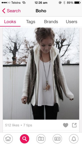 jacket fur cardigan vest grey
