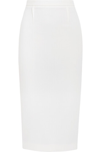 skirt pencil skirt wool white