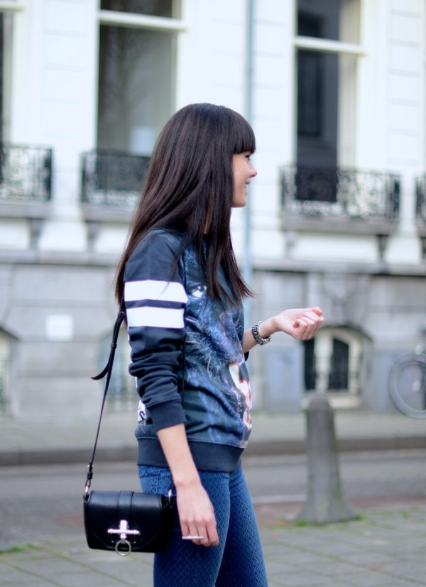 lovely by lucy sweater jeans shoes bag