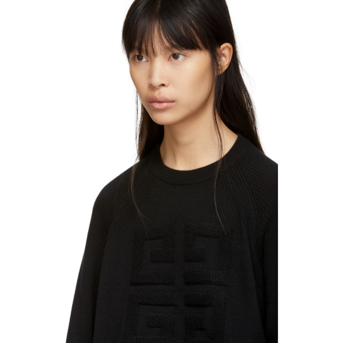 Givenchy - Black Cashmere 4G Sweater