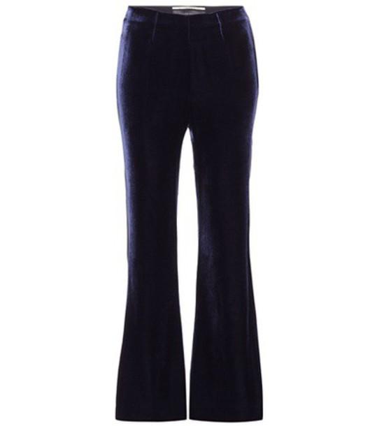 Roland Mouret velvet blue pants