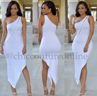 dress white dress summer dress all white party nightlife clubwear