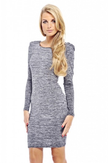 Scratch Print Square Neck Dress - AX Paris