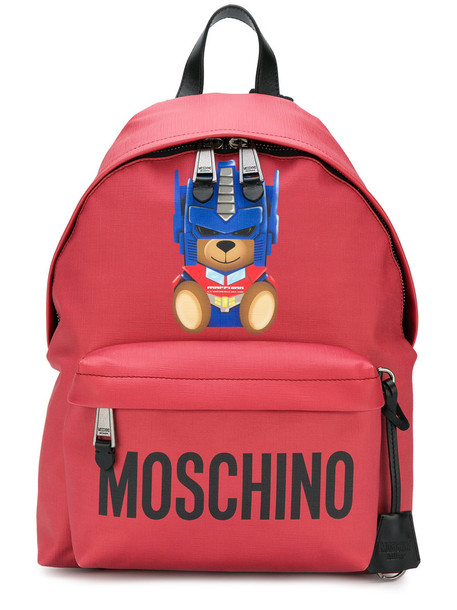 Moschino bear women backpack red bag