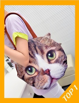 Free Shipping 2013 women's fashion handbag , cat personalized cute Korea girls shoulder bag , casual winter big bags discount-inShoulder Bags from Luggage & Bags on Aliexpress.com