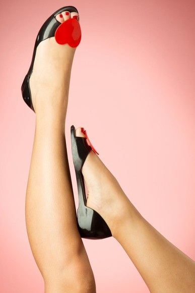 hearts black shoes