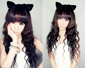 hair accessory cats ears korean fashion ulzzang hot velvet kpop