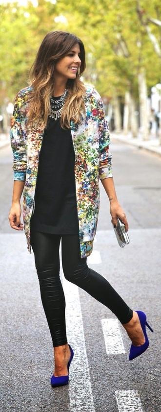 jacket floral classy smart