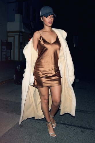 dress brown dress silk silk dress