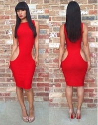 Online Shop 2014 New Fashion Free shipping wholesale bandage dress hot bodycon dress sexy women elegant party dresses Sleeveless|Aliexpress Mobile