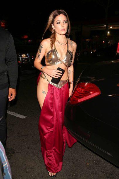 skirt bra bralette halloween halloween costume halloween makeup celebrity halloween costume halsey