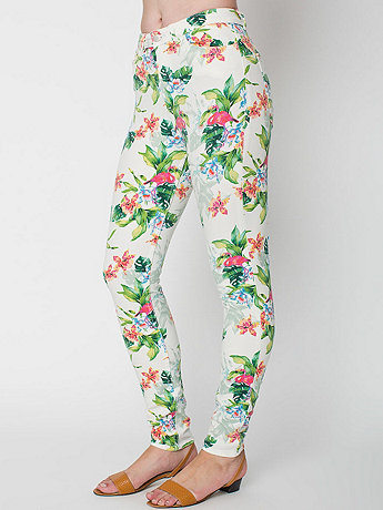 Flamingo Print Pencil Pant | American Apparel