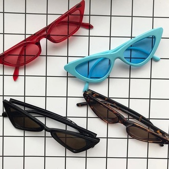 sunglasses girly vintage red blue black sunnies small sunglasses tiny sunglasses black sunglasses accessories accessory