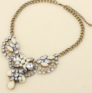 Vintage retro rhinestone statement necklace · fashion struck · online store powered by storenvy